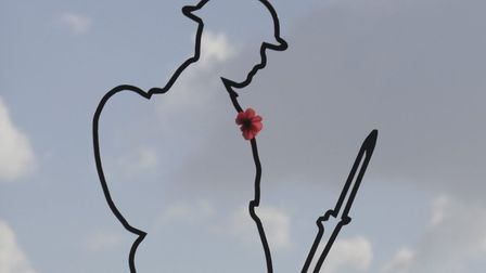 The 6ft Tommy figures are being featured at First World War centenary events across the country. Pic