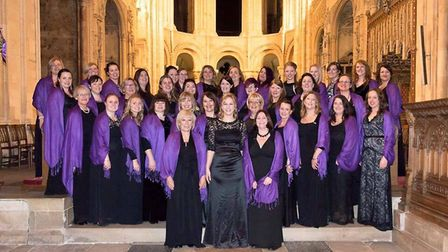 Honington Military Wives Choir who will be performing at the concert at St Mary's Church in Diss on