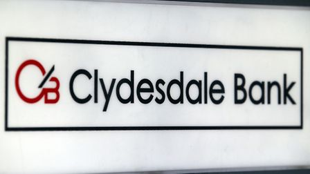 Clydesdale Bank sign as the bank has been fined �20.7 million by the Financial Conduct Authority in