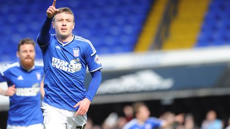 Ipswich Town v Blackpool. Sky Bet Championship. Freddie Sears scores for Ipswich.