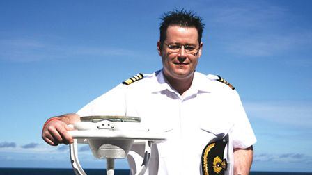 Captain Wesley Dunlop, who will be returning to his home town Southwold during a Saga cruise in summ