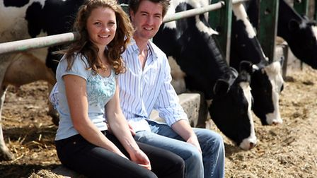 Andy Howie and Jodie Farran of Shaken Udder milkshake company from Tolleshunt major PHOTOGRAPH BY