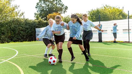 Roydon Primary School pupils get to enjoy the new sports pitch part of 5.75m work to expand the scho
