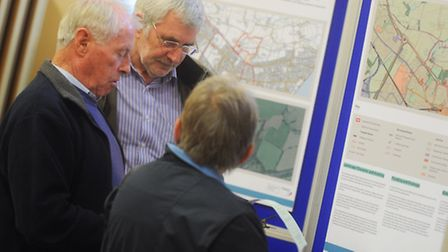 Exhibition showing plans for 550 homes, shops, care and community facilities to be built on countrys