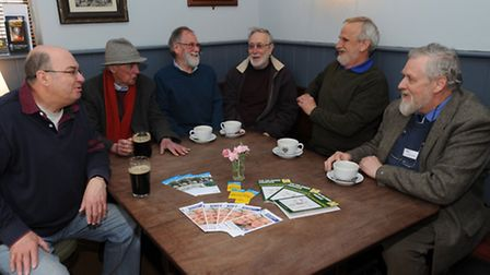 The launch of Blokes at the Oakes social group for older men (organised by Age UK Suffolk) at Oakes