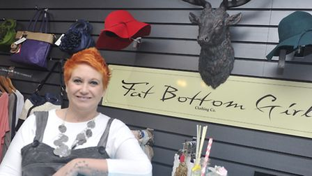 Sooz Miller is celebrating her shop Fat Bottom Girl being opened for a year in Ipswich.