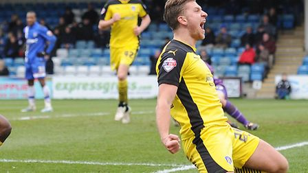 George Moncur, who scored again at Port Vale today