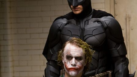 Batman and The Joker in action drama The Dark Knight - a superhero movie which looked at the fight a