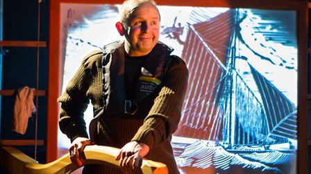 Oysters by Ivan Cutting, the 2015 spring tour by Eastern Angles.Terence Frisch as Mo