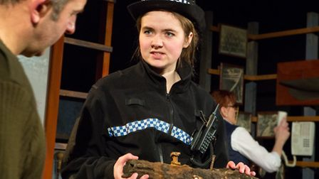 Oysters by Ivan Cutting, the 2015 spring tour by Eastern Angles. .Jeannie Dickinson as PC Adair