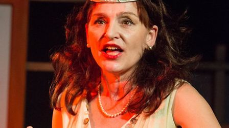 Oysters by Ivan Cutting, the 2015 spring tour by Eastern Angles. Kiki Kendrick as Pearl