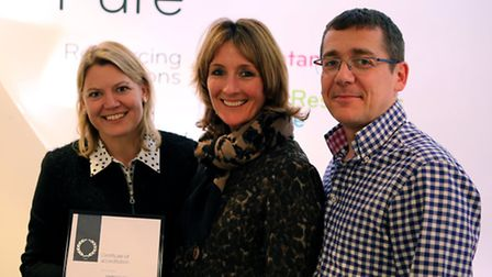 From left, Pure Resourcing Solutions directors Gill Buchanan, Lynn Walters and Ian Walters with the