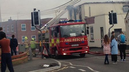 Fire at flat above Masalla restaurant, Braintree. Picture by Stacey Cosens.
