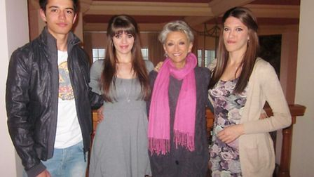Sharon Morrison with Jenny, Richard and Merlyn