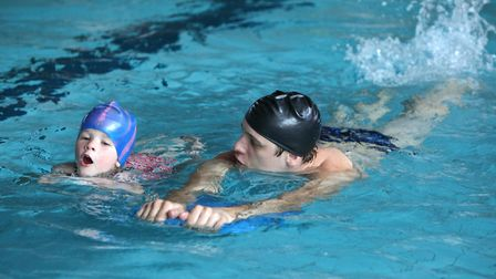 Swimmers are being encourage to log their distances as part of challenges at South Norfolk pools on