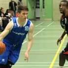 Ipswich's Rory Winter attacks the basket during the U18s fine win against Harringey