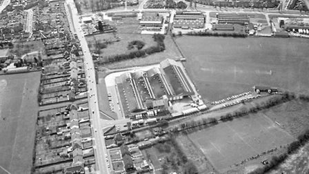 TookÕs Bakery is in the centre of this aerial view from around 1970. The Norwich Road (Now the Old N