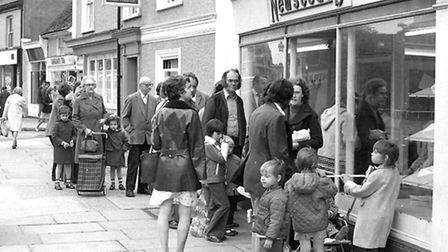 Newsteads Bakery had several retail sites. There was a queue outside their shop in St Helens Street
