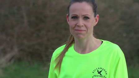 Fiona Storey who is running the Paris Marathon in memory of her mum from Wickham Market who died of