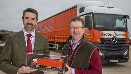To mark the 10th anniversary of the relationship between Bacton Transport and Orwell Truck & Van, Ba