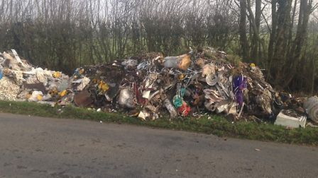 Rubbish dumped in Walsham Le Willows