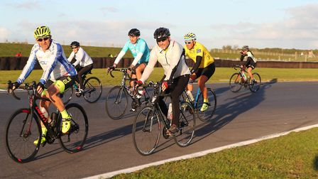 Riders taking part in the charity ride. Picture: Richard Styles