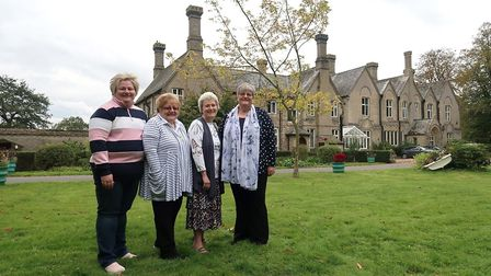 Paula Burgess, right, with her sisters Sarah, Kate and Anne at The Depperhaugh where her wedding rec