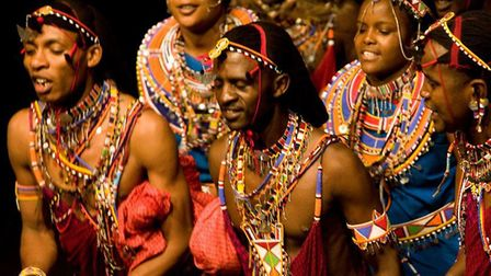 Osiligi Maasai Warriors who are returning to Lophams Village Hall with music and dance. Picture: Osi