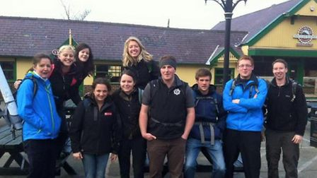 The Essex Young Farmers Three Peaks Challenge team during their training weekend in Snowdonia.