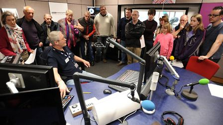 Radio Suffolk opens its doors in Ipswich for people to tour the radio station as part of its 25th an