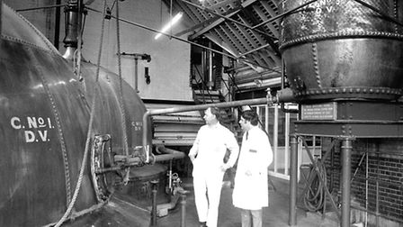 The copper room at Cliff Brewery in 1978. (Photograph by Paul Nixon/Archant)