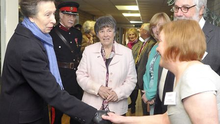 Princess Anne meets Livability Treetops Service Manager Janet Bilton during her visit to Livability