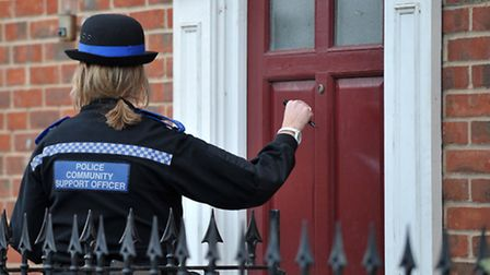 Police carrying out enquiries. Library image.