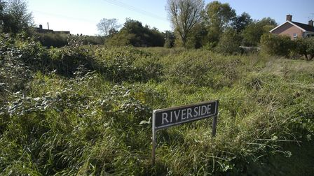 Land backing on to the River Waveney in Fair Green, Diss, that is subject to plans for a house on st