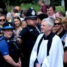 An onlookers view of the celebrity wedding of Mark Wright and Michelle Keegan - Vicar of St Mary's M