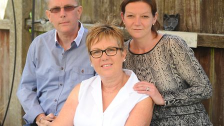 Steve Sillett, contaminated blood victim, at home with wife Di (middle) and daughter-in-law Laura Ro