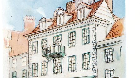 Donald Maxwell's colour sketch in the 1920s shows the perfect proportions of Cupola House