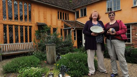 The Potters and Friends event at Little Hall in Lavenham. Gill Hedge (left) and Anja Penger-Onyett w