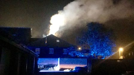 Firefighters were called to Cuthberts Maltings in Diss after a blaze broke out at a property being u