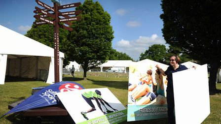 Set up of the 2015 Suffolk Show at Trinity Park, Ipswich Sport Suffolk Holly Middleditch