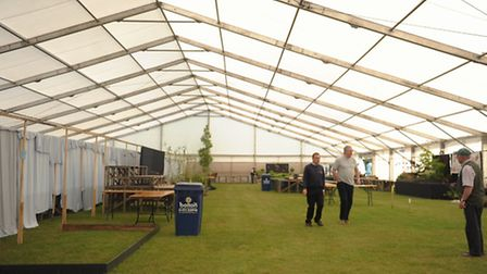 Set up of the 2015 Suffolk Show at Trinity Park, Ipswich