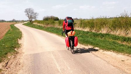 Robbie Stevens and Will Treager on the cycle journey