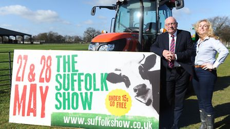 Suffolk Agricultural Society President Terry Hunt and CEO Nicola Bateman ahead of the Suffolk Show i