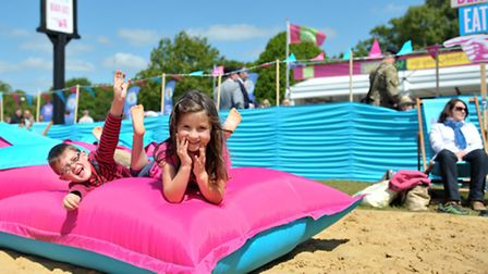 Crowds enjoyed the scorching sunshine on the first day of the Suffolk Show 2015. Hayden and Sienna