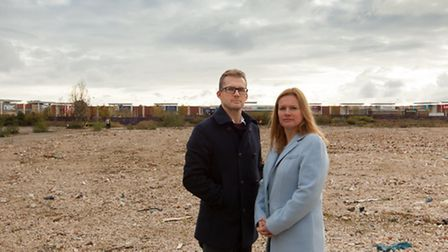 Tollgate Partnership Limited Directors Daniel Watts and Jayne Gee on part of the site at Tollgate, S