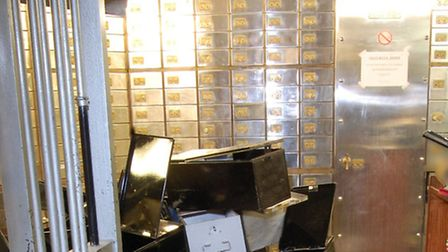 Photo issued by the Metropolitan Police of the inside of the vault at the Hatton Garden Safe Deposit