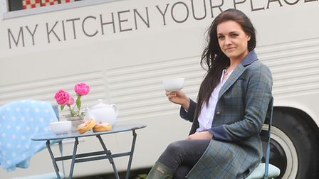 Vintage food truck My Kitchen Your Place with owner Phoebe Cripps.