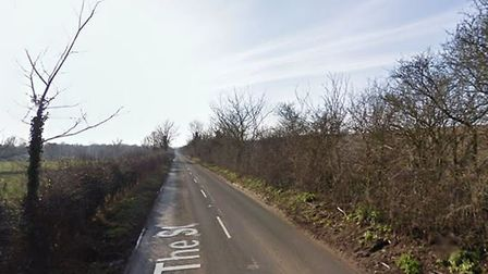 A 54-year-old motorcyclist was killed on The Street in Brockdish on Friday, October 26. PHOTO: Googl