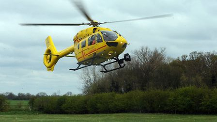 The East Anglian Air Ambulance helicopter was deployed