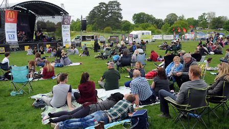 The LeeStock music festival at Melford Hall in Long Melford in memory of Lee Dunford. The Big Alabam